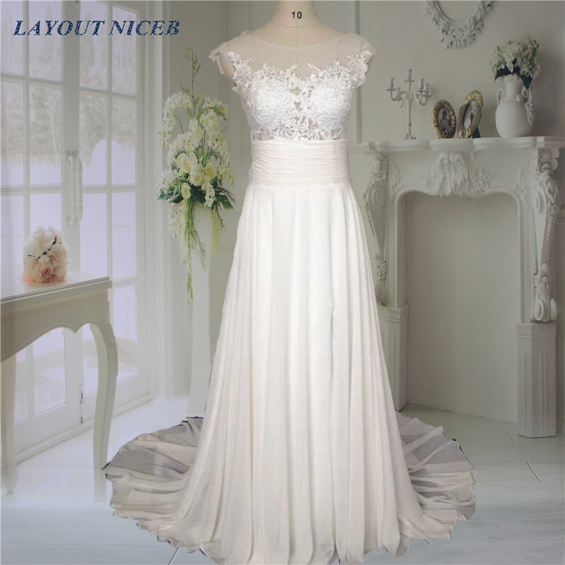 Romantic Sweetheart Beach Wedding Dress High Quality: Real Image Split Lace See Through Back Beach Wedding Dress