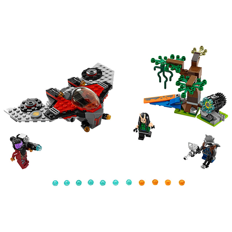 Super Heroes Guardians of the Galaxy Ravager Attack M-ship 10743 Model Building Blocks Toys Bricks Compatible With lego DBP537