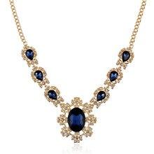 Женская Подвеска Шарм Кристалл Цветы Звено Цепи Водослива Ожерелье духи feminino Ювелирные Подарки