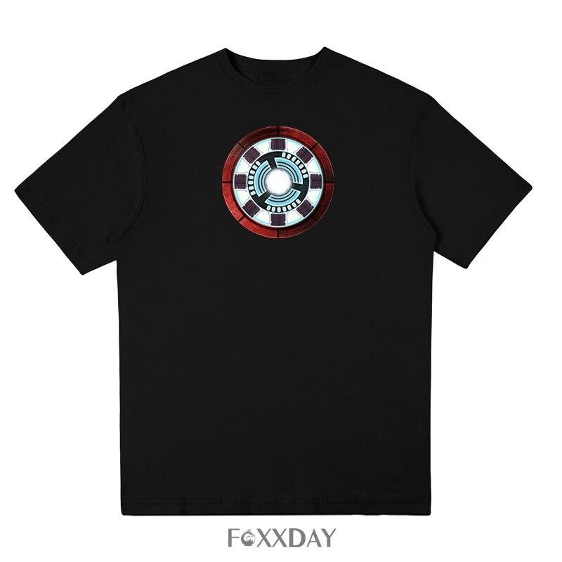 2018 New Arrivals Iron Man T shirt energy pool Print T-shirt 100% cotton Men Tee shirt casual size XS S M L XL 2XL free shipping