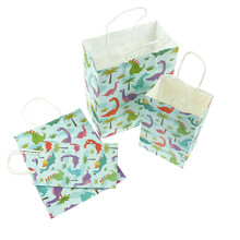 Мультфильм Динозавры umbrel, единорог Kraft Бумага мешок, Бумага Подарочный пакет с ручками свадьбы, со дня рождения вечерние упаковки подарков 2 размера