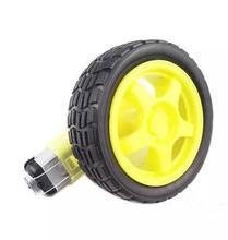 4pcs/lot  smart car TT motor smart car gear motor with wheel tire optional encoder wheel