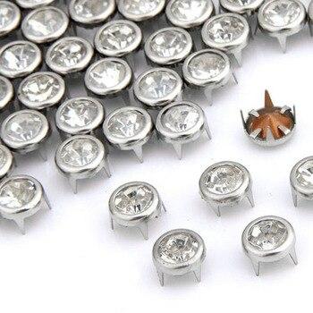 Nuevo 100x7mm metal Strass Nieten de Ziernieten Rundnieten Strassnieten