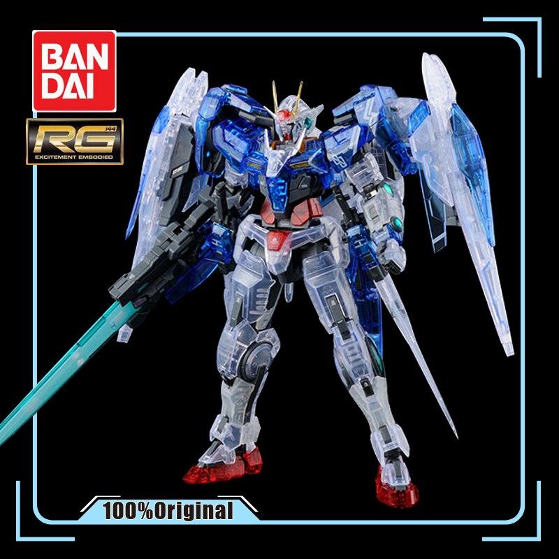 Bandai Gundam Lieu Limité RG 1/144 Double Zéro Jusqu'à 00 RAISER 00R Couleur Transparent Action Figure Enfant Assemblé Jouet cadeau