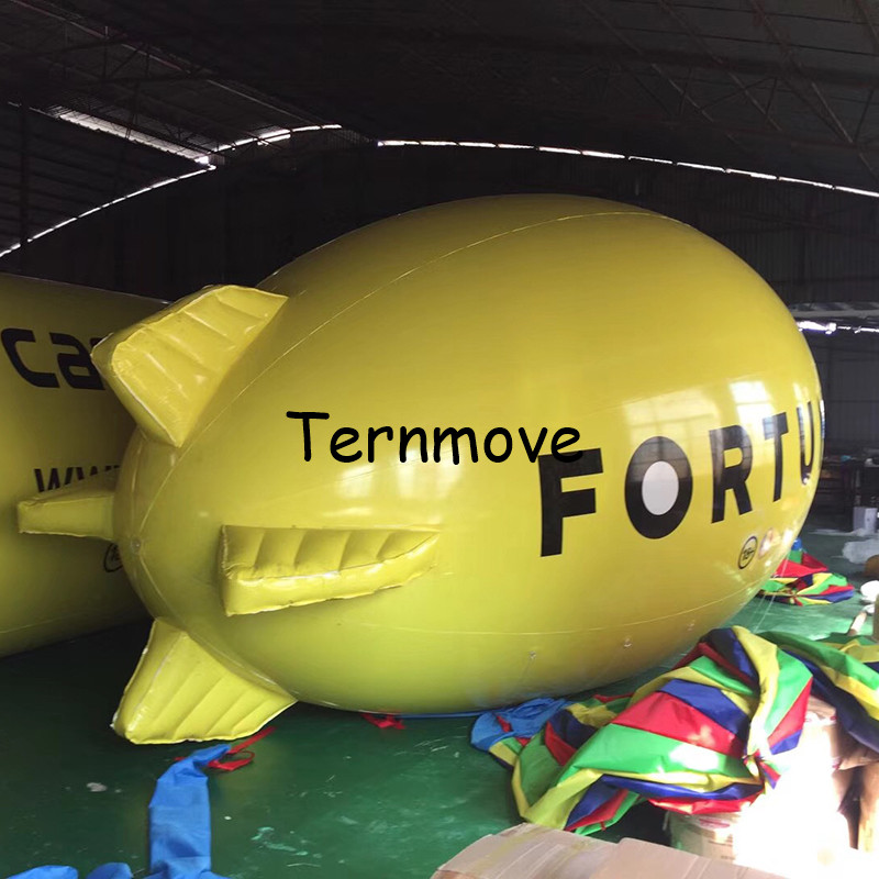 inflatable Airship airplane Zeppelin Inflatable Advertising Airship for Events PVC High Quality Promotional Helium Blimp Balloon ao007 inflatable cake balloon event advertising 3 5m pvc fly balloon
