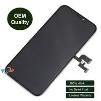100% Оригинальные ЖК дисплей Экран сборки Сенсорный экран планшета для iPhone X Бесплатная доставка по DHL