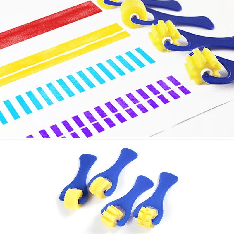 4* Schwamm Roller Pinsel Malerei Werkzeug Pinsel Kind Spielzeug Vorschule Kunst.