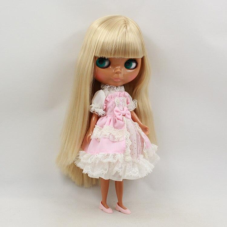 Blyth Nude Doll For Series No.KF538y Golden Hair  bangs Suitable For DIY Change Toy For Girls-في الدمى من الألعاب والهوايات على  مجموعة 1