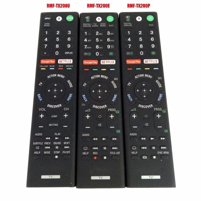 Б/у оригинальный подлинный RMF TX200P RMF TX200E RMF TX200U голосовой пульт дистанционного управления Управление для sony ЖК дисплей светодиодный смарт ТВ Управление;
