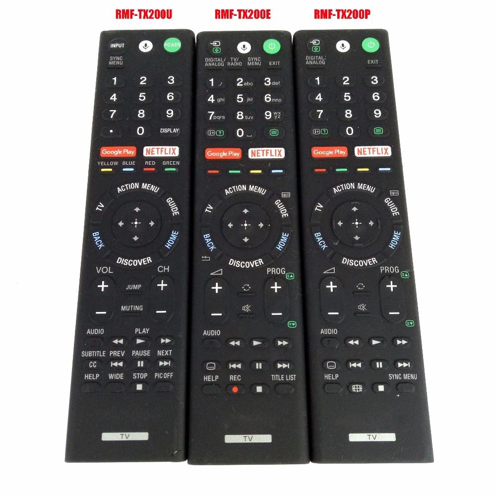 цена на USED Original Genuine RMF-TX200P RMF-TX200E RMF-TX200U Voice Remote Control For Sony LCD LED Smart TV Controller