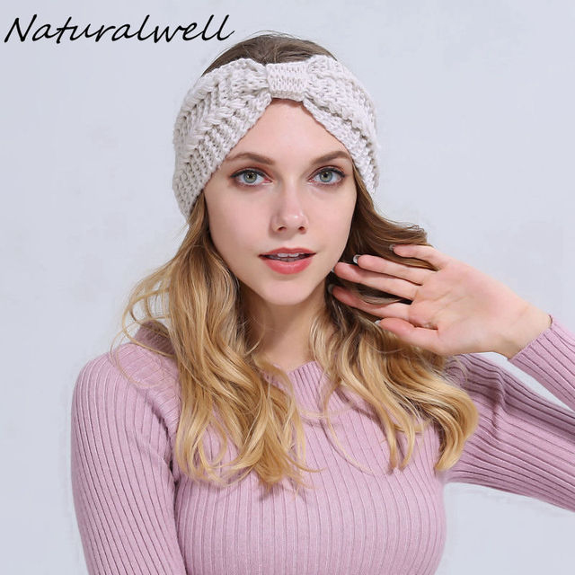 Naturalwell Everly Head Wrap Crochet Headband Knitted Head Wrap