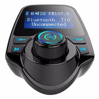 Hot Sale Handsfree Car MP3 Player FM Transmitter LCD Modulator USB Charger SD TF For Samsung