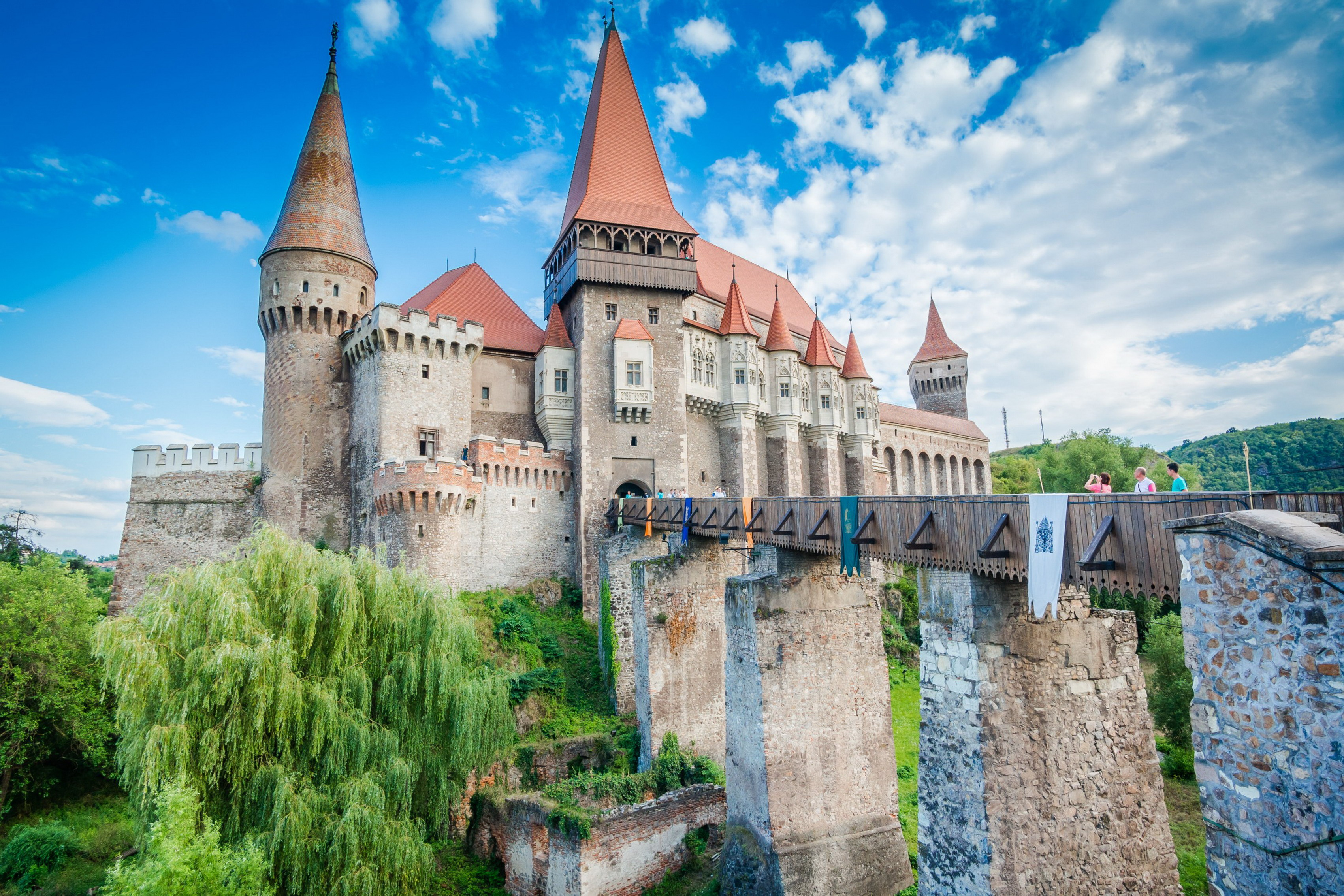 Home decoration castle tourists edification beautiful landscape Silk Fabric Poster Print 076FJ