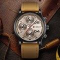 2016 Dial Grande de Los Hombres CURREN Relojes de Primeras Marcas de Lujo Azul cuarzo Militar Reloj de Pulsera Hombres Reloj Reloj de Los Hombres Relogio masculino 8207