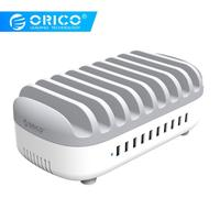 ORICO 10 Ports 120W 10 Ports power docking Station 5V2.4A Charging Station with Holder for Phone Tablet PC Apply for Home Public