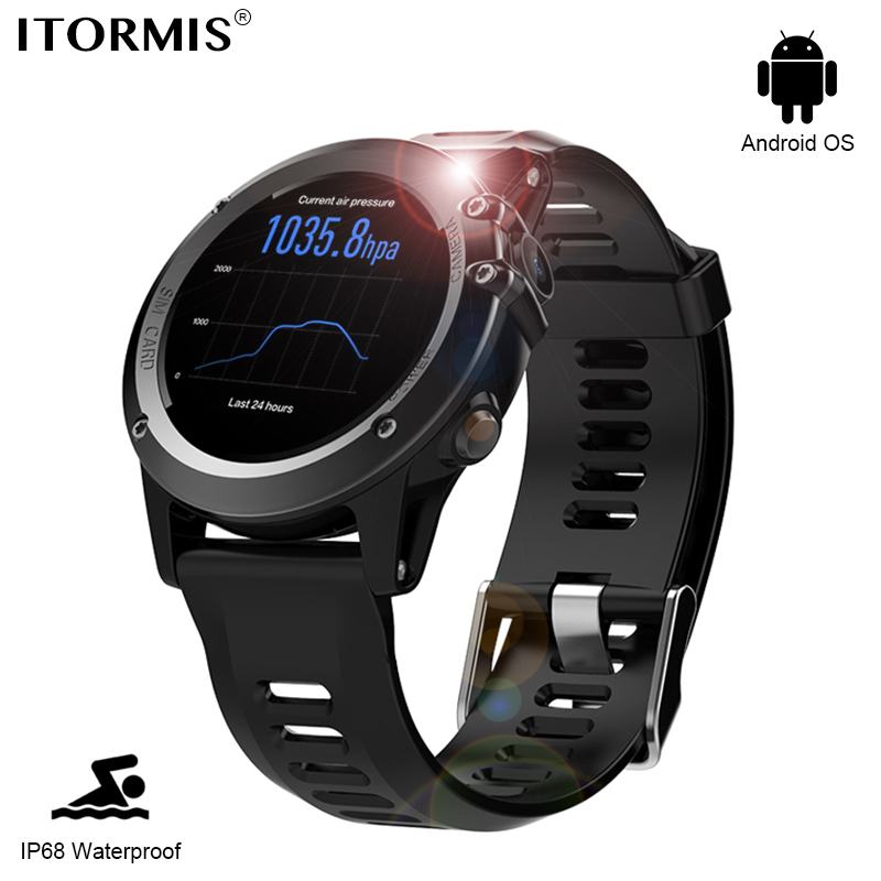 ITORMIS Android Carta SIM Del Telefono Astuto di GPS Della Vigilanza SmartWatch Orologio Bluetooth con IP68 Impermeabile Frequenza Cardiaca Tracker Fotocamera 3G Wifi