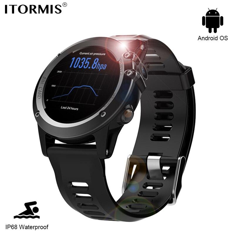 ITORMIS Android GPS Montre Smart Watch SmartWatch Téléphone SIM Carte Montre Bluetooth avec IP68 Étanche Fréquence Cardiaque Tracker Caméra 3G Wifi