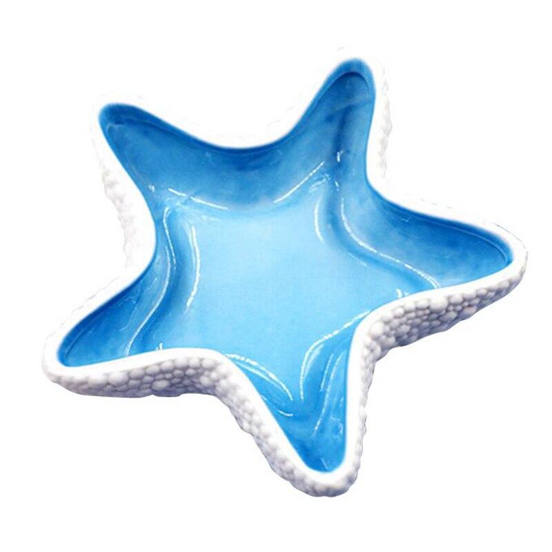 Méditerranée céramique étoile de mer ornements bijoux bonbons stockage plaques décoratives maison bibelots décorations intérieures artisanat