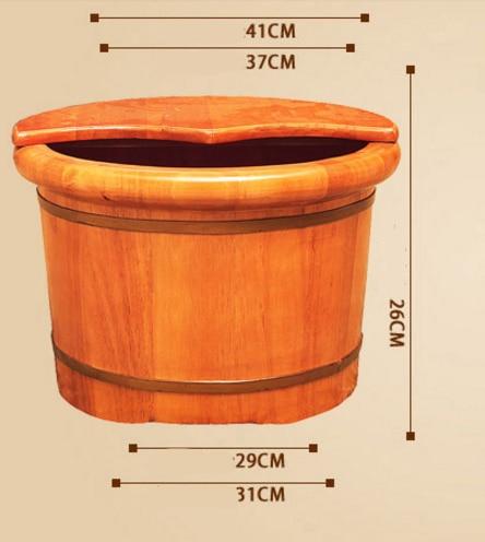 Oak Barrel Foot Bath Household Tub Solid Wood Steam Fumigation For Adult Pedicure Massage