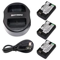 3Pcs LP E6 LPE6 LP E6 Rechargeable Battery Fully Coded Version USB Dual Charger For Canon
