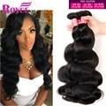 Royce Волосы Малазийский Объемная Волна 3 шт./лот Малайзийские Виргинские Волосы Мокрые И Волнистые Человеческие Волосы Соткет 100% 7А Необработанные Virgin волос