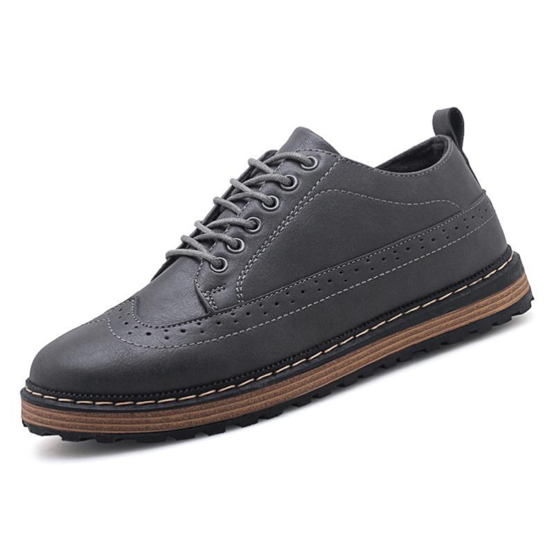 Macios Pria gray Formais Lazer Mycoron Homens De Quente brown 2019 Masculinos Couro Moda Cinza Sepatu Venda Marrom Preto Preto Luxo Sapatos 88TFq