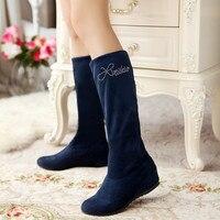Big size 34-47 laarzen Een paar schoenen te dragen twee stijl dij hoge vrouwen femininas enkellaarsjes zapatos mujer chauss Q6-3