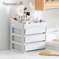 DINIWELL DIY Multi layer Plastic Container Box Makeup Drawers Cosmetic Storage Box Jewelry Make Up Organizer Case Office Boxes