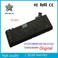10.95 v 63.5wh nueva batería original del ordenador portátil para apple macbook pro a1278 mc700 mc374 a1322