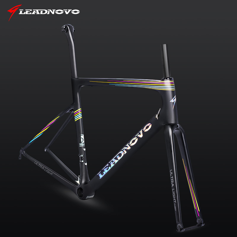 rainbow carbon road frame UD matte glossy carbon fiber superlight weight frame Di2 Mechanical China taiwan