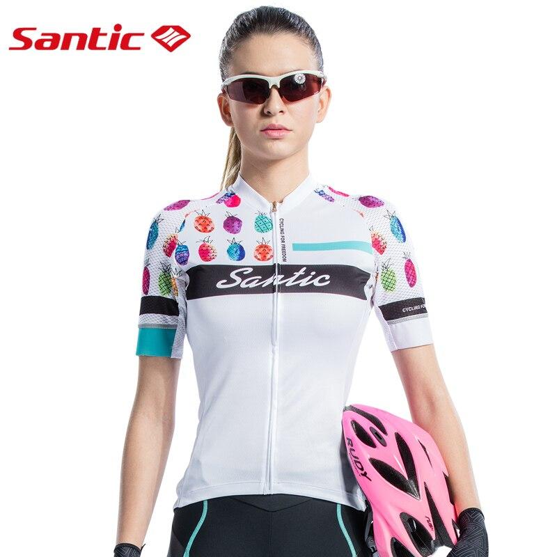 SANTIC été femmes cyclisme chemise vélo cyclisme Jersey 2018 Pro équipe vtt descente Sports maillots à manches courtes cyclisme vêtements