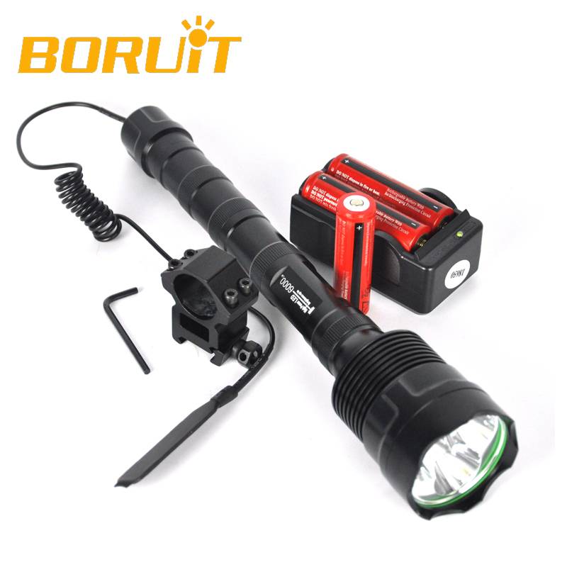 6000Lm Powerful XML 3xT6 LED Tactical Flashlight 18650 Lantern 5 Modes Hunting Torch Battery Charger Remote