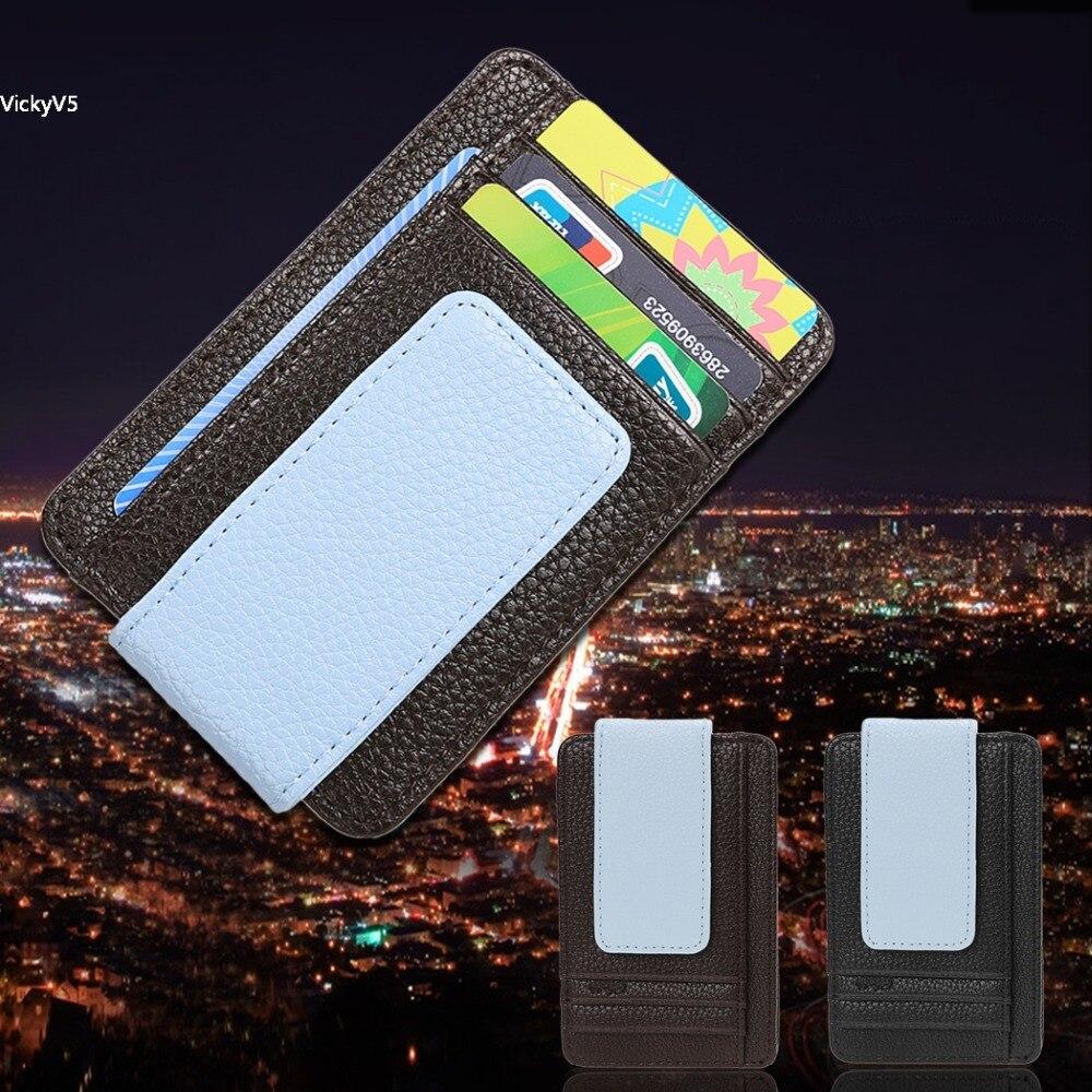 f659fa6d5 Diseñador de moda marca caliente de cuero Wallet ID tarjeta de crédito  titular de dinero clip nuevo pasaporte tarjeta de crédito bolsos para los  hombres vy