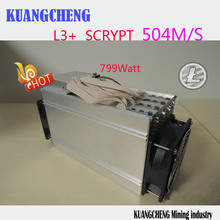 KUANGCHENG ANT MINER L3+ LTC miner 504M scrypt miner Litecoin mining machine on wall better than S9 and L3  250m 13.5T ltc MINER