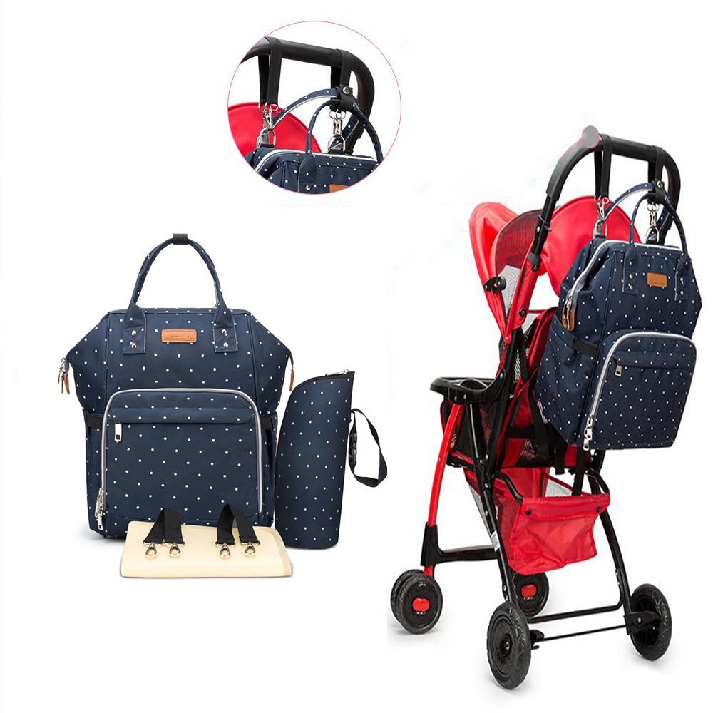 de carro Bolsa grande mamá bolsas de ruedas cuidado maternidad bolsa mochila del bebé cochecito de para para pañales mochila de bebé pañales silla para ZndFad