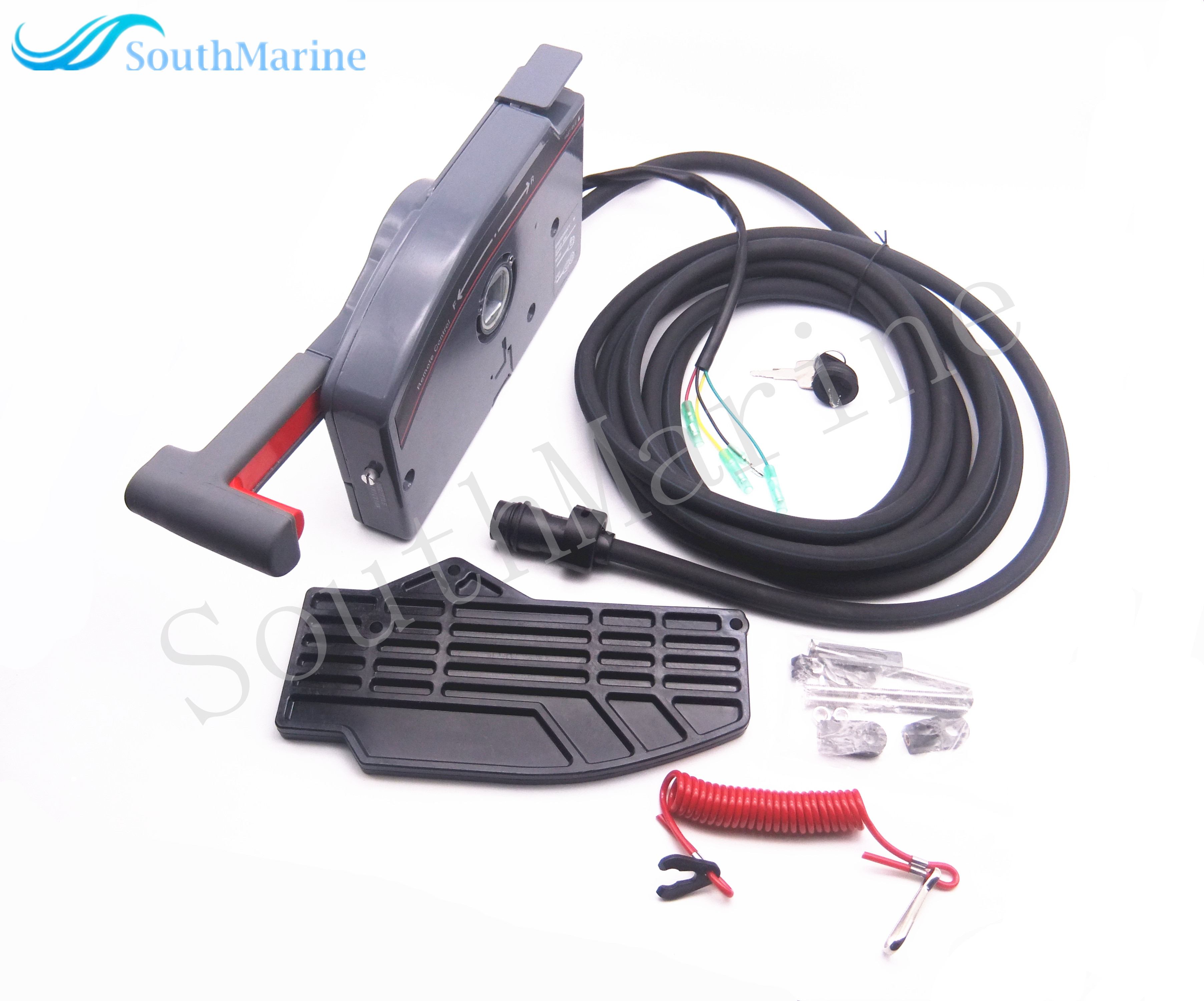Outboard Remote Control Box For Yamaha 703 Boat Motor 703 48205 15 00 703 48207 11 00 703 48205 14 00 , 10 Pins, LEFT HAND
