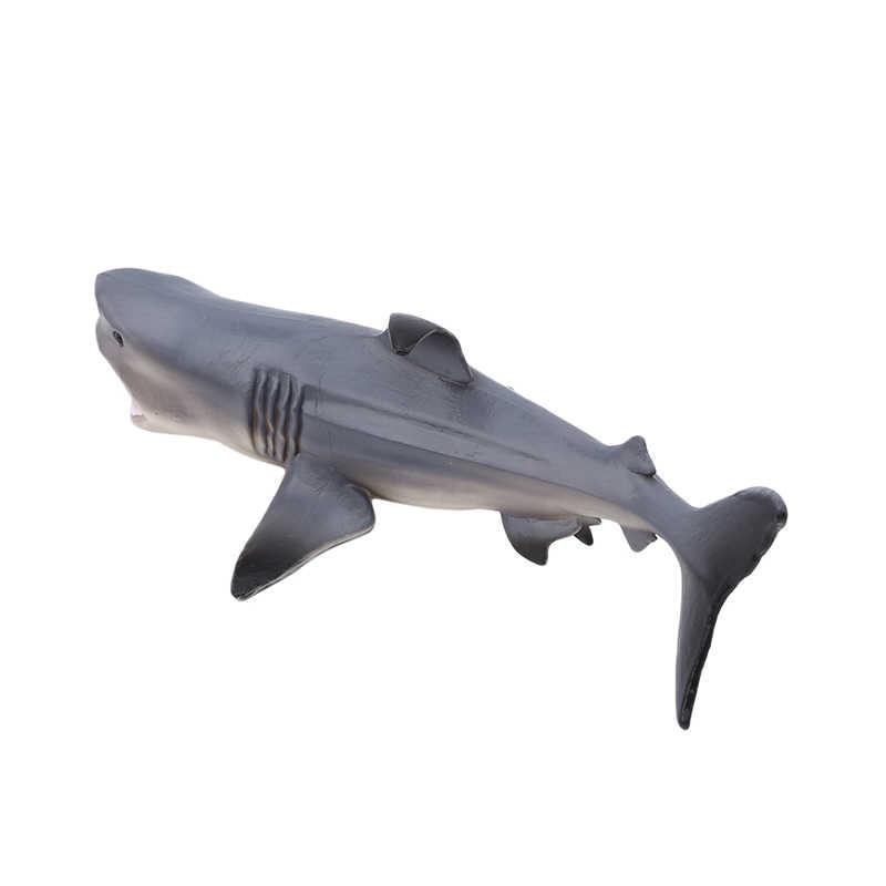 Cinza Tubarão Megalodon Prehistoric Educação Oceano Animais Figura Modelo Toy Kids Brinquedos Presente para as crianças/adulto presente 18*10cm
