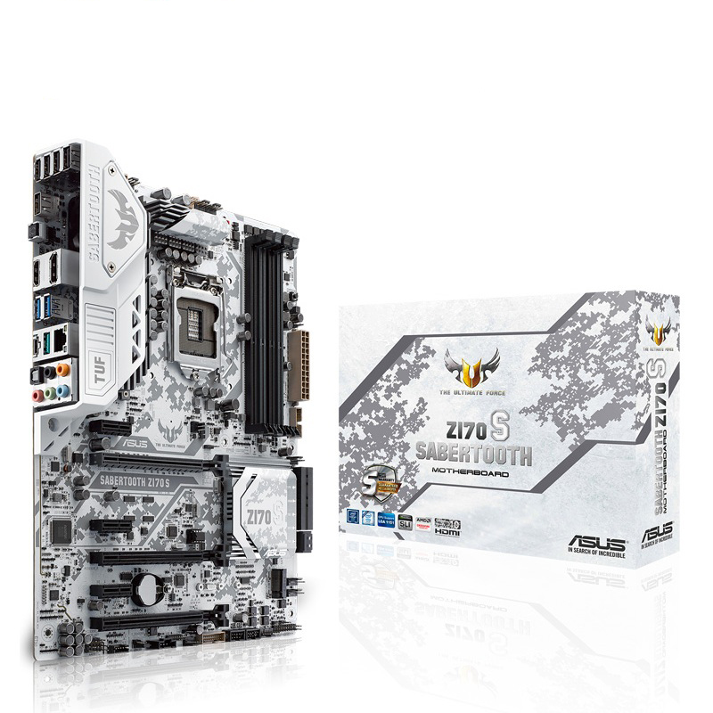 SABERTOOTH Z170 S tiger soul white TUF special forces Z170 game board used 90%new|Motherboards| |  - title=