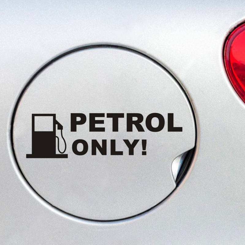 PETROL ONLY Text Car Sticker Removable Car Decal Waterproof Car Decals CZ15 car
