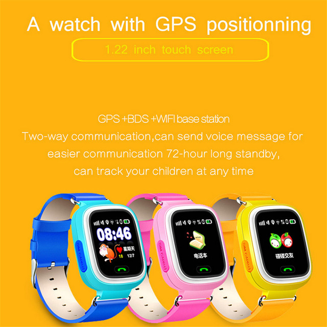 OGEDA Child Smart Watch GPS SOS Phone Gift For Kids Waterproof Bluetooth Answer/Dial Call 1.22inch Color Touch Screen WIFI Q90