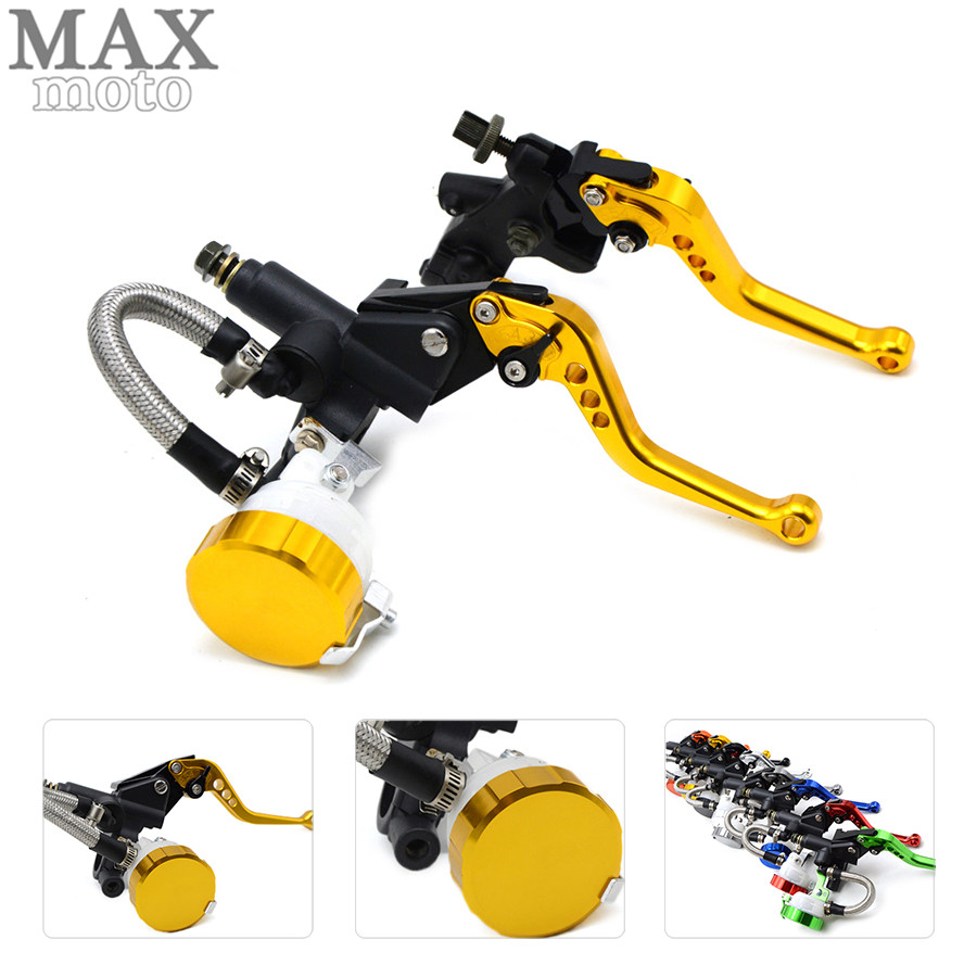 free shipping motorcycle CNC Aluminum Adjustable brake clutch lever& brake pump For Ducati STREETFIGHTER 848 2012 2013-2015