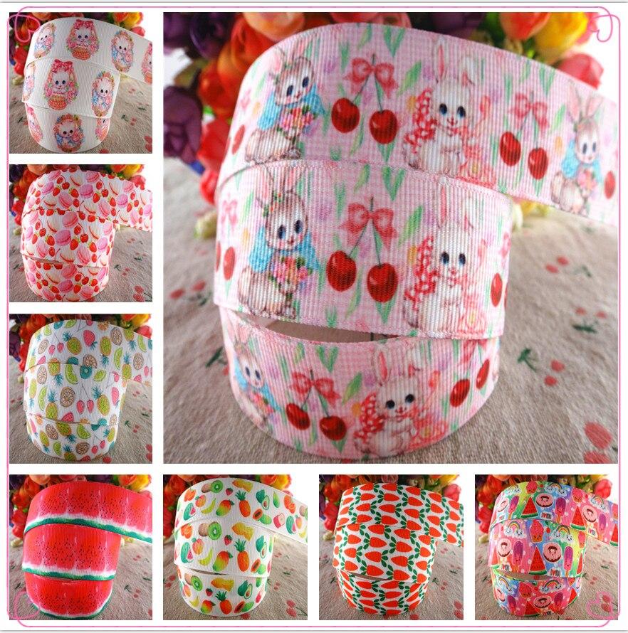 18052101, 1 «25 мм 5 ярдов/партия фруктовый торт напечатанные ленты для корсажа подарочные упаковочные материалы для ручных поделок