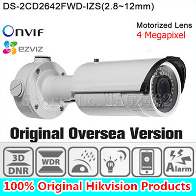 In stock DHL Free shipping english version Bullet Camera DS-2CD2642FWD-IZS, 4MP WDR Vari-focal Network IP Camera free shipping in stock new arrival english version ds 2cd2142fwd iws 4mp wdr fixed dome with wifi network camera