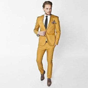 High Quality Two Buttons Groom Tuxedos Peak Lapel Groomsmen Men Blazers Suits (Jacket+Pants+Tie) NO:454