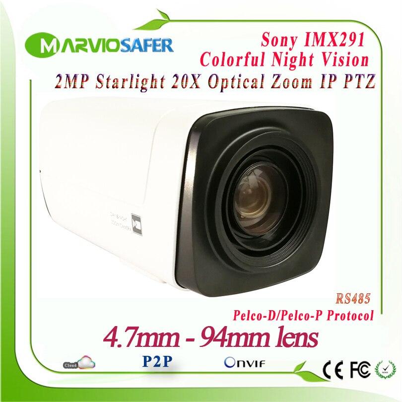 H.265 1080 P 2MP PTZ Réseau IP Caméra Module CCTV Starlight Coloré Nuit Vision Sony IMX291 Capteur 20X Zoom Optique Onvif