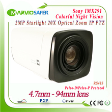 H.265 1080P 2MP PTZ Network IP Camera Module CCTV Starlight Colorful Night Vision Sony IMX291 Sensor 20X Optical Zoom Onvif 1080p ip camera ptz 2mp 10x optical zoom cctv ip cameras module onvif low illumination block cctv camera module for uav