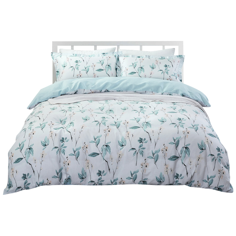 100% Cotton New 2019 Fashion Four Piece Sets Quilt Sheets Pillowcase Breathable Plant Pattern Not Easy Pilling Four Piece Sets100% Cotton New 2019 Fashion Four Piece Sets Quilt Sheets Pillowcase Breathable Plant Pattern Not Easy Pilling Four Piece Sets