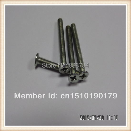 M3*40mm plain color ss screw (100PCS/BAG) image
