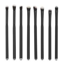8pcs Makeup Brushes Set Black wood handle Powder Foundation Eyeshadow Eyeliner Lip Brush Tool Levert Dropship mar3