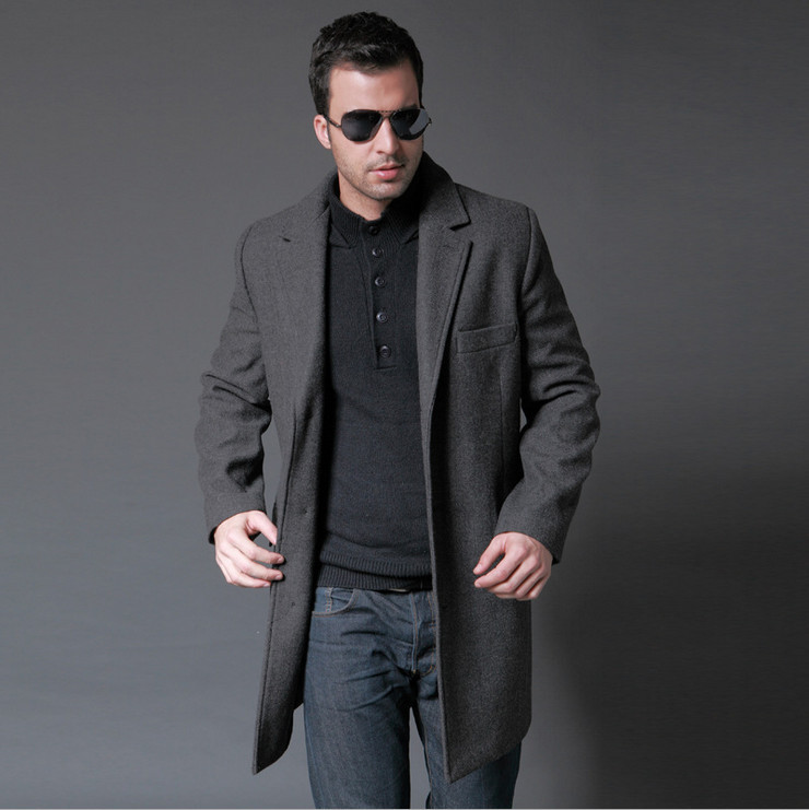 EMS Freeship Fashion 2015 Jacket for Men Business Wool Clothing ...